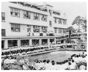 校内水泳大会(昭和40年7月)